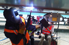 KAT Oscillator Multi-Pass Welding Operations in Bridge Building